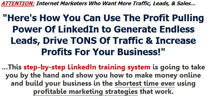 Linkedin profits blueprint no matter what type of business youre in whether you operate online or even offline then you realize the amount and quality of traffic your business gets malvernweather Choice Image