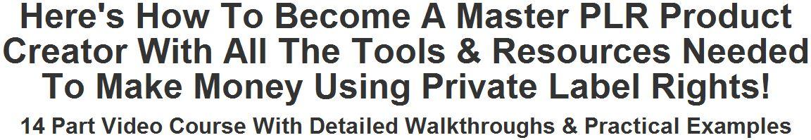 Private Label Masters Course